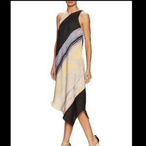 Rachel Roy Printed Assymetrical Dress